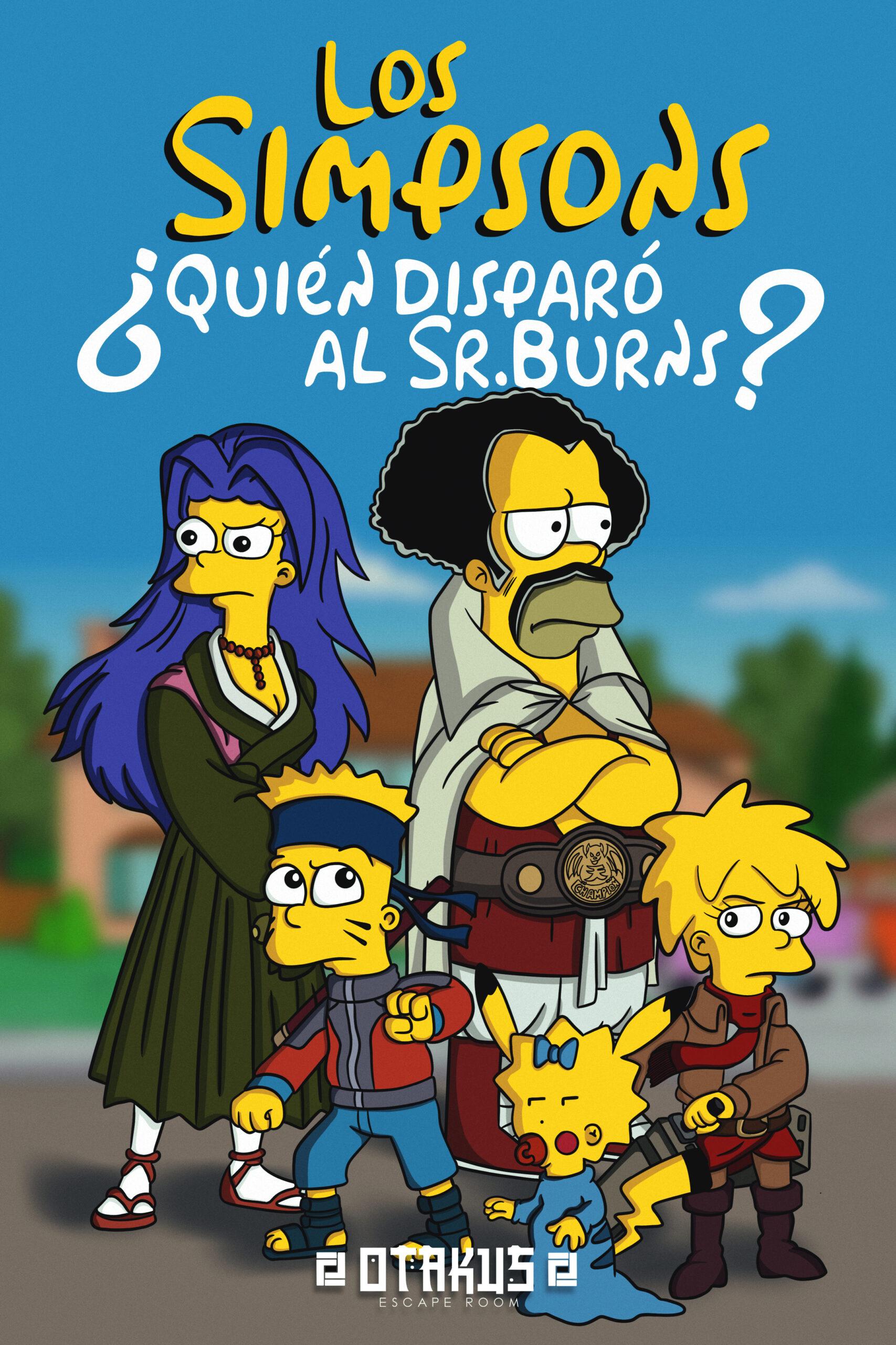 escape room Los Simpsons ¿Quién disparó al Sr. Burns?